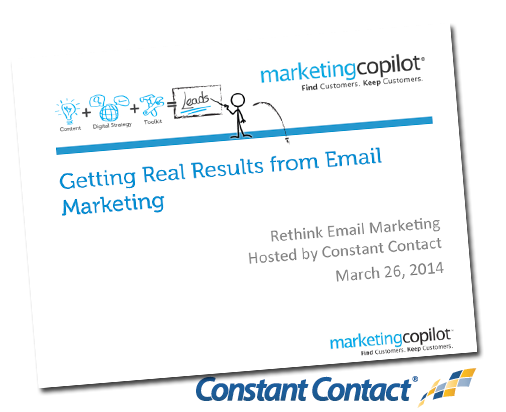 Rethink Email Marketing: Marie Wiese presents closing case study at Constant Contact seminar