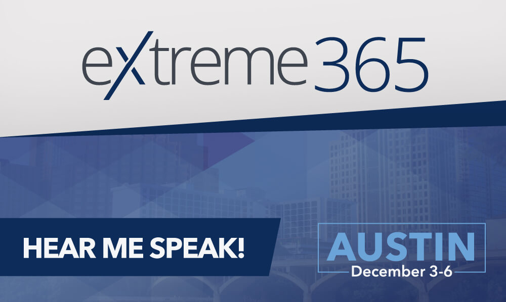 Marie Wiese to speak at eXtreme365 Austin (Dec. 3-6 2018)
